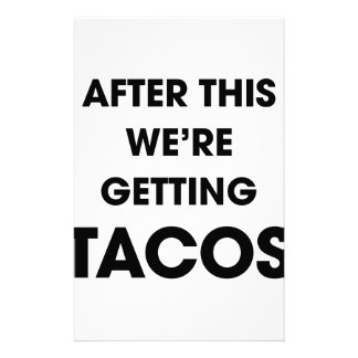 Papelaria Nós estamos obtendo o Tacos