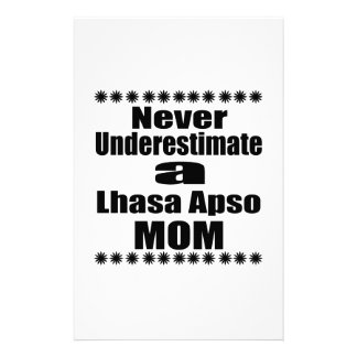 Papelaria Nunca subestime a mamã de Lhasa Apso
