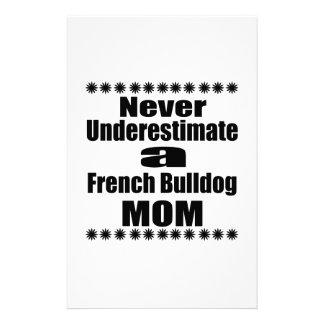 Papelaria Nunca subestime a mamã do buldogue francês