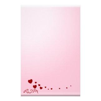 Papelaria O amor nota o monograma