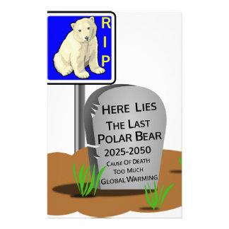 Papelaria O aquecimento global, RASGA o urso polar 2050