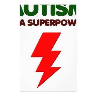 Papelaria O autismo é poder super, crianças, miúdos,