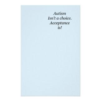 Papelaria O autismo não é uma escolha