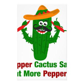 Papelaria O cacto da pimenta diz come mais pimentas