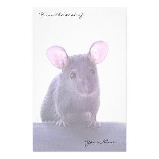 Papelaria O desenho orelhudo cor-de-rosa bonito do rato