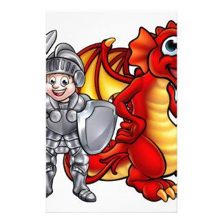 Papelaria O dragão dos desenhos animados e knight 2017 A3-01