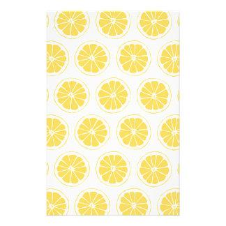 Papelaria O limão pequeno corta o teste padrão gráfico
