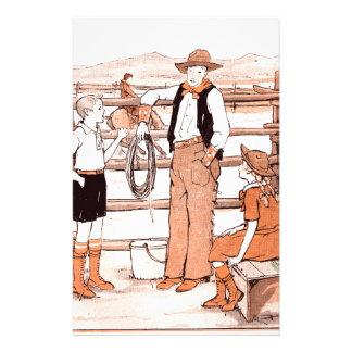 Papelaria O livro de criança do vintage - falando ao