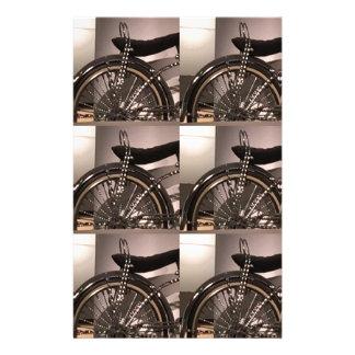 Papelaria O modelo gráfico do deco da arte da bicicleta do