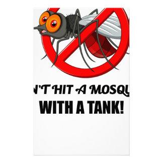 Papelaria o mosquito não o bate com um tanque