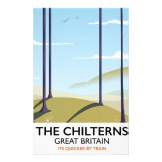Papelaria O poster de viagens de Chilterns Grâ Bretanha