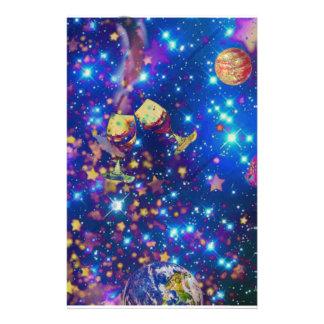 Papelaria O universo e os planetas comemoram a vida com um