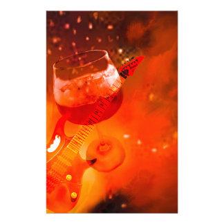Papelaria O vinho e a música são essenciais em nossa