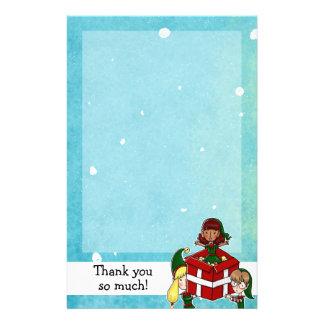 Papelaria Obrigado do Natal de 3 duendes você papel de nota
