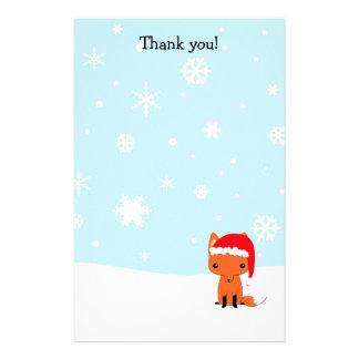 Papelaria Obrigado rotula o papel de carta da raposa do