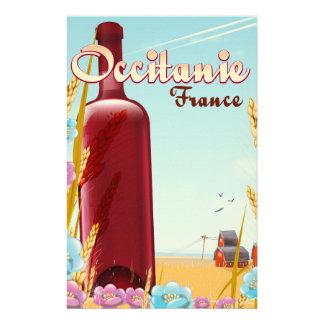 Papelaria Occitanie France que cultiva o poster da paisagem