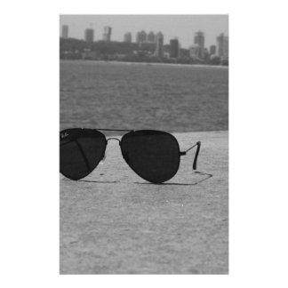 Papelaria Óculos de sol & Mumbai de B&W