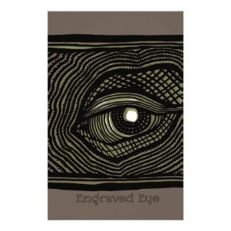 Papelaria Olho gravado