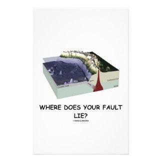 Papelaria Onde sua falha se encontra? (Humor da geologia)