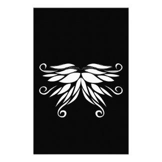 Papelaria Ornamento brancos pretos do Nordic de Sibéria