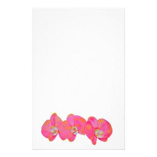 Papelaria Orquídeas cor-de-rosa