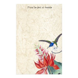 Papelaria Os animais selvagens dos pássaros do colibri