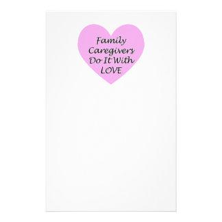 Papelaria Os cuidadors de família fazem-no com amor