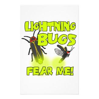 Papelaria Os insetos de relâmpago temem-me