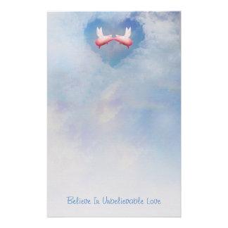 Papelaria Os porcos do vôo Beijar-Acreditam no amor