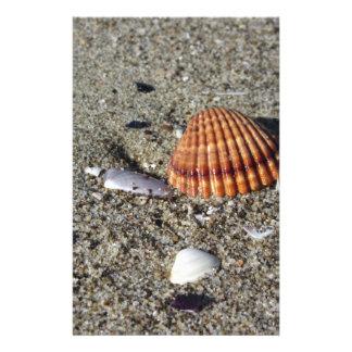 Papelaria Os Seashells no verão da areia encalham a opinião