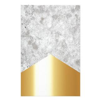 Papelaria Ouro concreto #372 da seta