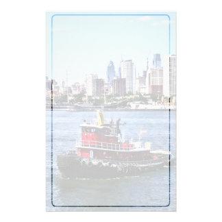 Papelaria PA de Philadelphfia - Rebocador pela skyline de