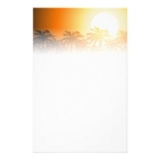 Papelaria Palmeiras tropicais no por do sol