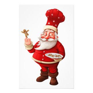 Papelaria Papai Noel coze homens de pão-de-espécie