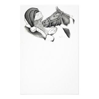 Papelaria Papai noel do Natal e cavalo da pintura
