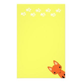 Papelaria Papel de carta bonito da raposa