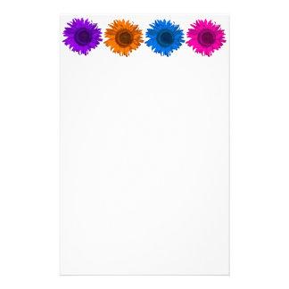 Papelaria Papel de carta colorido dos girassóis do pop art