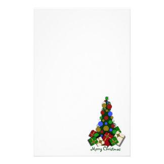 Papelaria Papel de carta da árvore de Natal