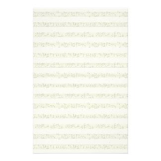 Papelaria Papel de carta da partitura