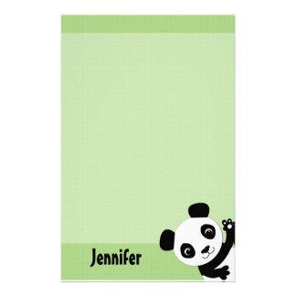 Papelaria Papel de carta de ondulação da panda