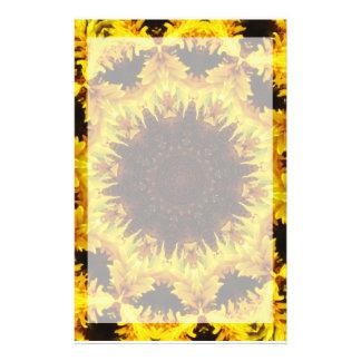 Papelaria Papel de carta do caleidoscópio do girassol