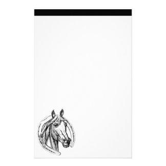 Papelaria Papel de carta do cavalo e da ferradura