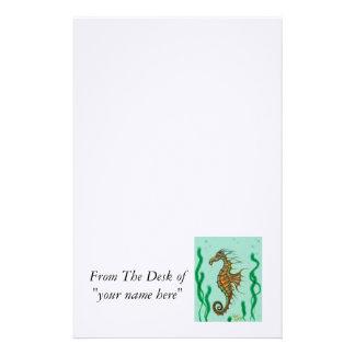 Papelaria Papel de carta do cavalo marinho