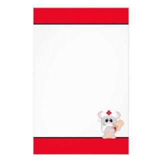 Papelaria Papel de carta do divertimento do rato da