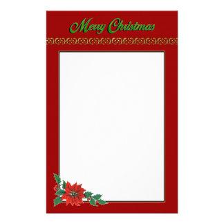 Papelaria Papel de carta do feriado do Natal