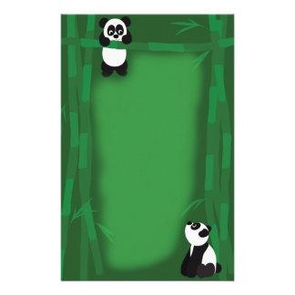 Papelaria Papel de carta do urso de panda