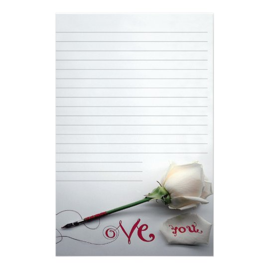"Papelaria Papel de carta ""Love You"""