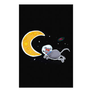 Papelaria Papel de carta Personalizado - Mouse In Space