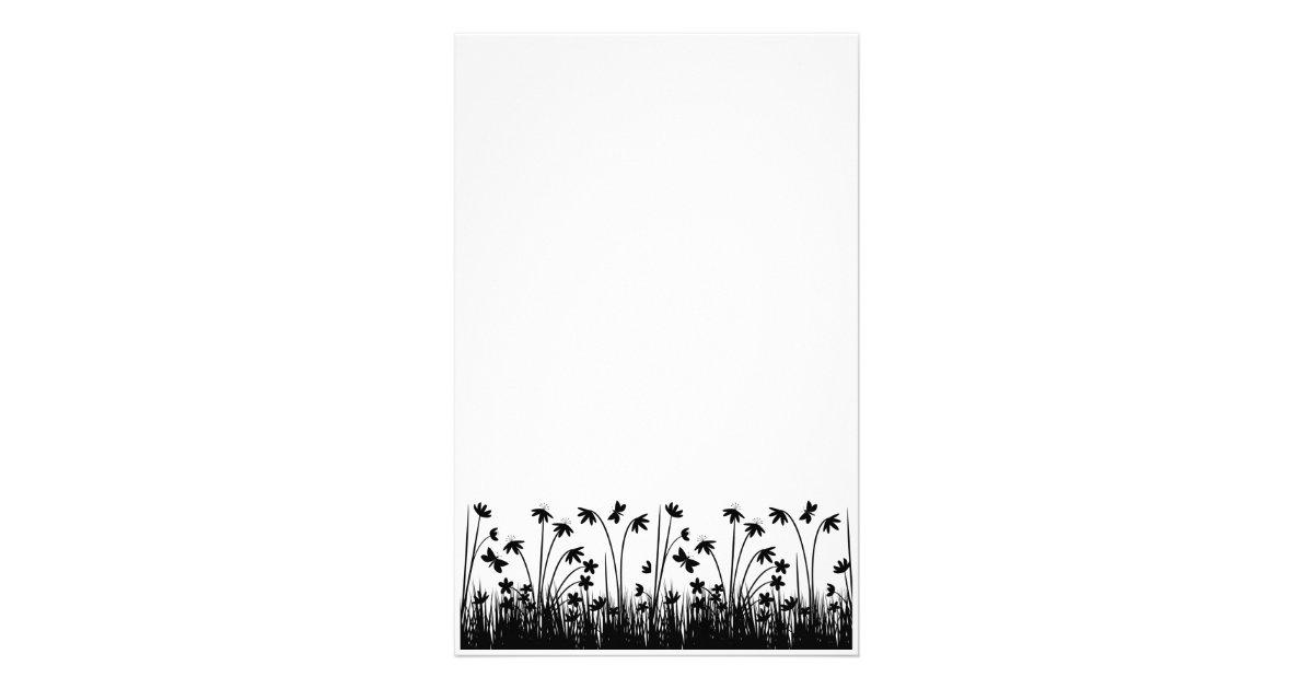 Papelaria Papel <b>de</b> carta preto e branco | Zazzle.com.br