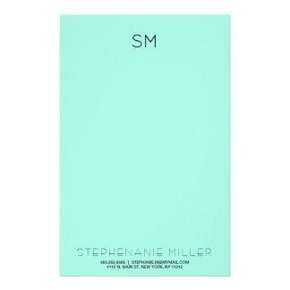 Papelaria Papel de carta simples do inicial do monograma da